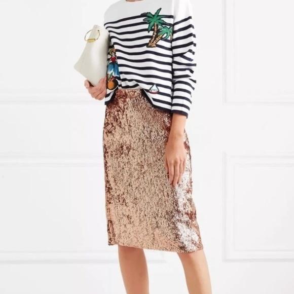 d6f6058c7 J. Crew Skirts | Nwt J Crew Petite Rosegold Sequin Skirt | Poshmark